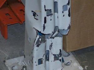 Damaged Column - Call HIS Installation today!
